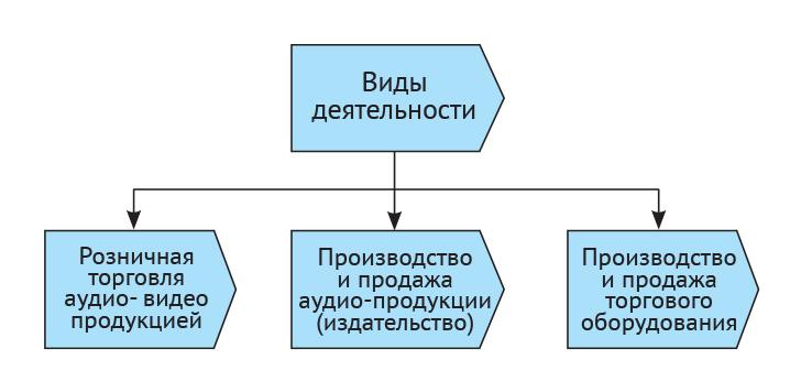 Виды деятельности компании Видеомир